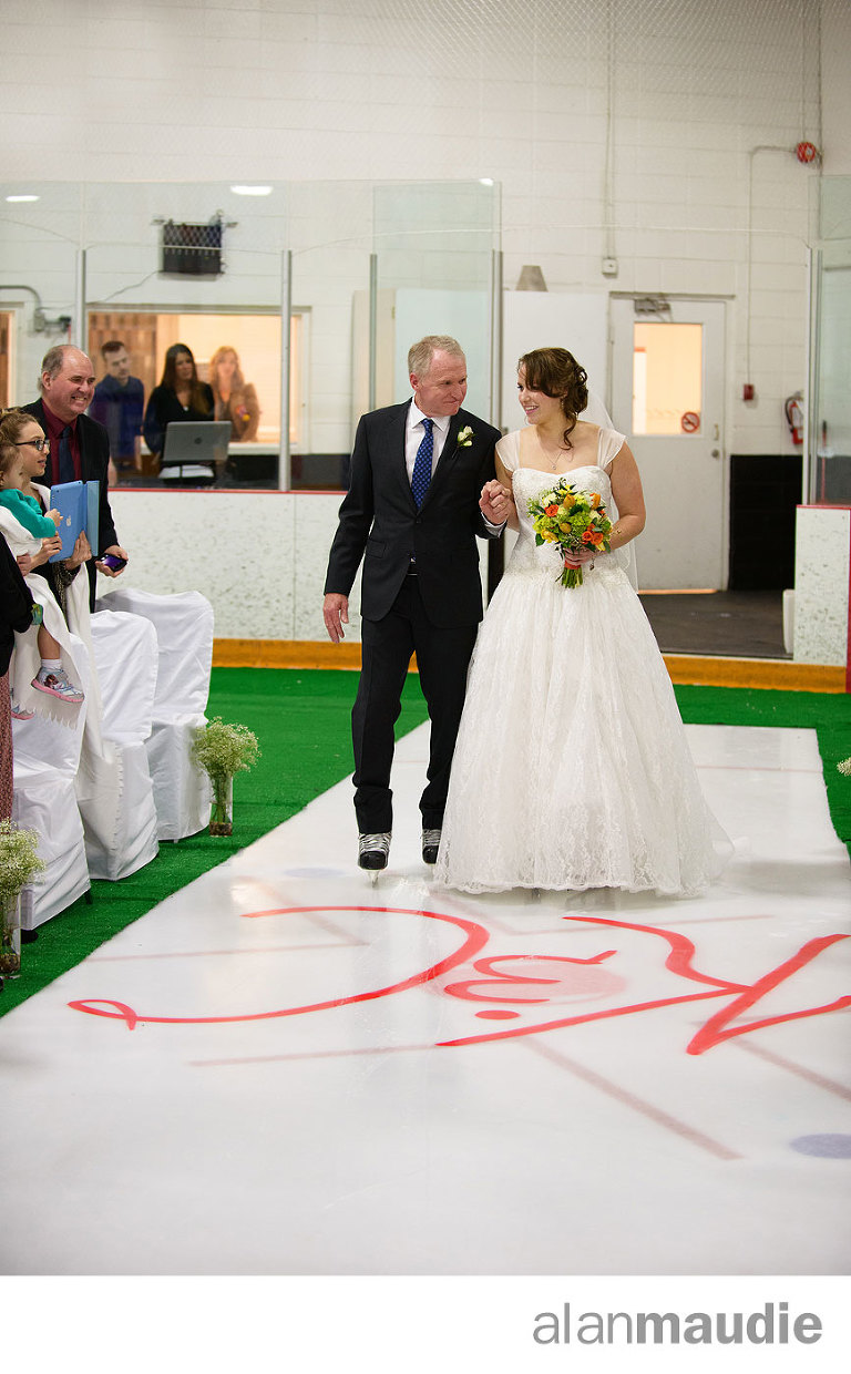 Calgary Wedding on Skates