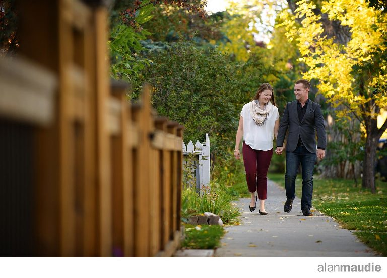 Calgary engagement session in Kensington